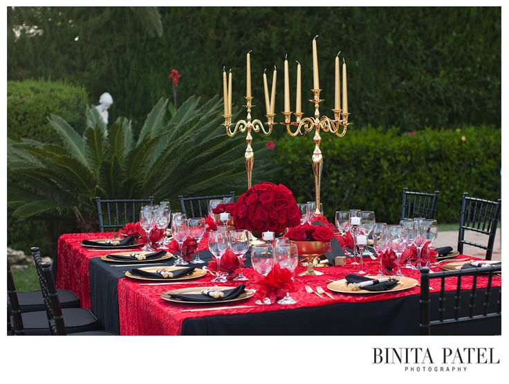 #Gold #Candelabra #Centerpiece, Red and Gold Wedding Colors, Binita Patel Destination Photos