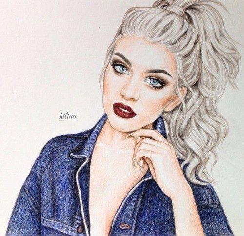 art, drawing, and hair Bild