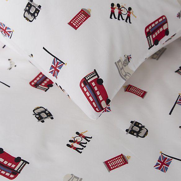 London Print Bed Linen Set | The White Company