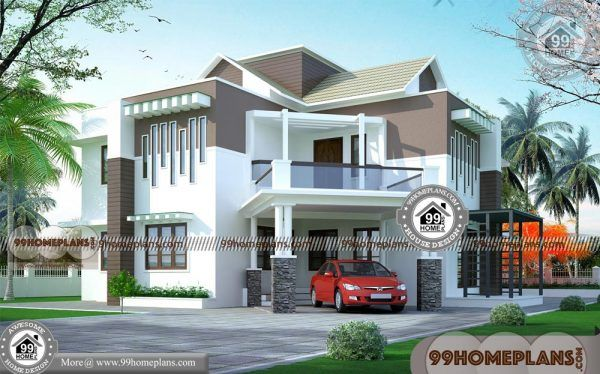 3d View Of House Plans 60 Double Storey Homes Plans Modern Designs Two Storey House Plans Small House Plans Storey Homes