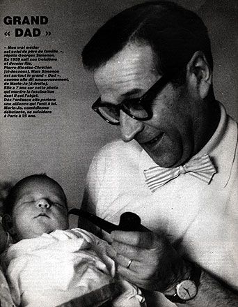 "Georges Simenon  GRAND DAD – ""My true métier is that of father of the family,"" attests Georges Simenon. In 1959 his third and last son, Pierre-Nicolas-Chrétien"