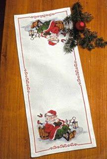 Feliz Natal:Camino de mesa navideño