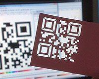 Futuristic business cards! laser cut