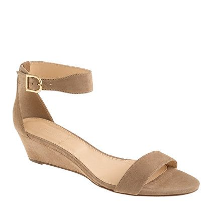 Lillian suede low wedges - shoes - Women's new arrivals - J.Crew