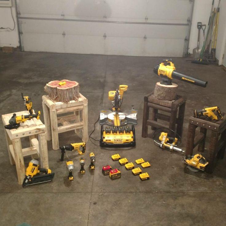 DeWalt power tools on the hammerschlagen tables