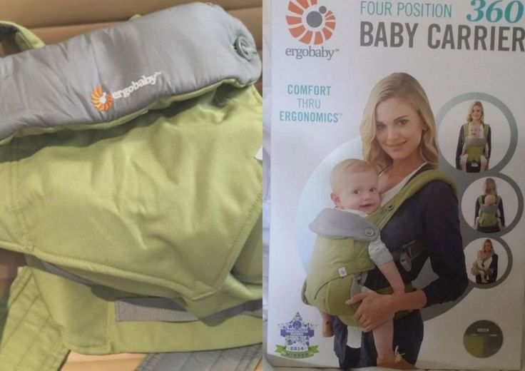 WORLDWIDE FREE SHIPPING New ERGOBABY Four Position 360 Baby Carrier Green