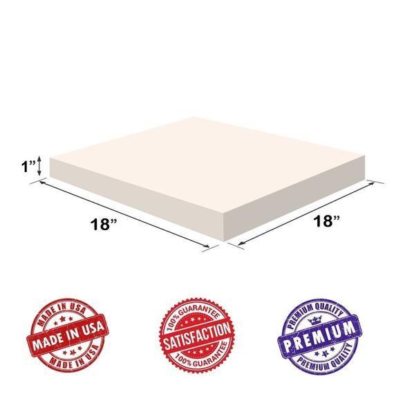 Upholstery Visco Memory Foam Square Sheet 3 5 Lb High Density 1