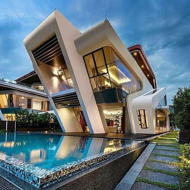 25 best ideas about cool house designs on pinterest for Latest architectural house designs