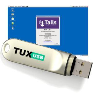 Tails ou The Amnesic Incognito Live System est une distribution GNU/Linux basée sur la sécurité fondée sur Debian qui a pour but de préserver vie privée et anonymat. Toutes les connexions réseau transitent soit à travers le réseau Tor, soit sont bloquées. Le système est conçu pour ne pas laisser de trace numérique sur la machine à moins qu'il soit explicitement autorisé à le faire.  Pour plus d'information : https://www.tux-usb.com/produit-147-cle-usb-tux-usb-linux-tails.html