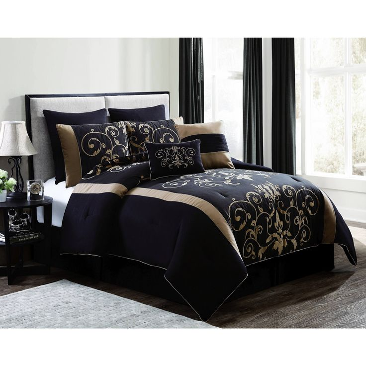 Geneva Home Cassandra 8 Piece Comforter Set Size King