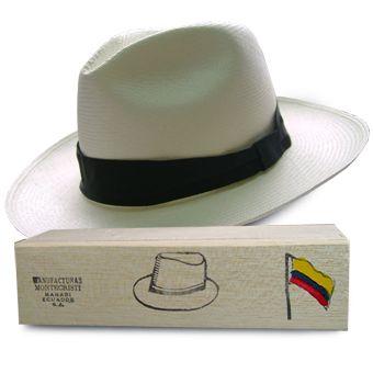 Panama Hat Montecristi (7-8) + Hat Raft Wood Box