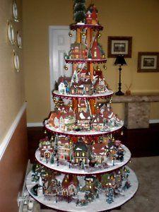 Unique Christmas village display.