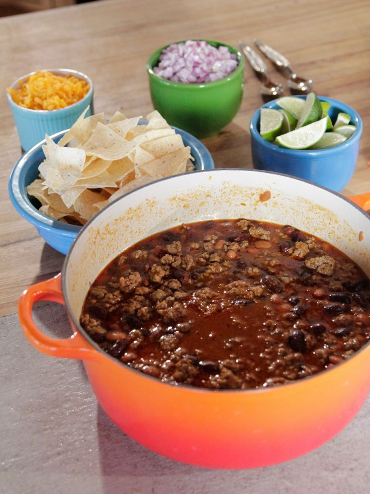 Simple, Perfect Chili recipe from Ree Drummond via Food Network