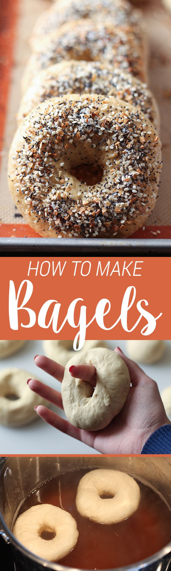 So much better than store-bought! Learn how to make PERFECT chewy bagels with my step-by-step video. Flavor customization options included!