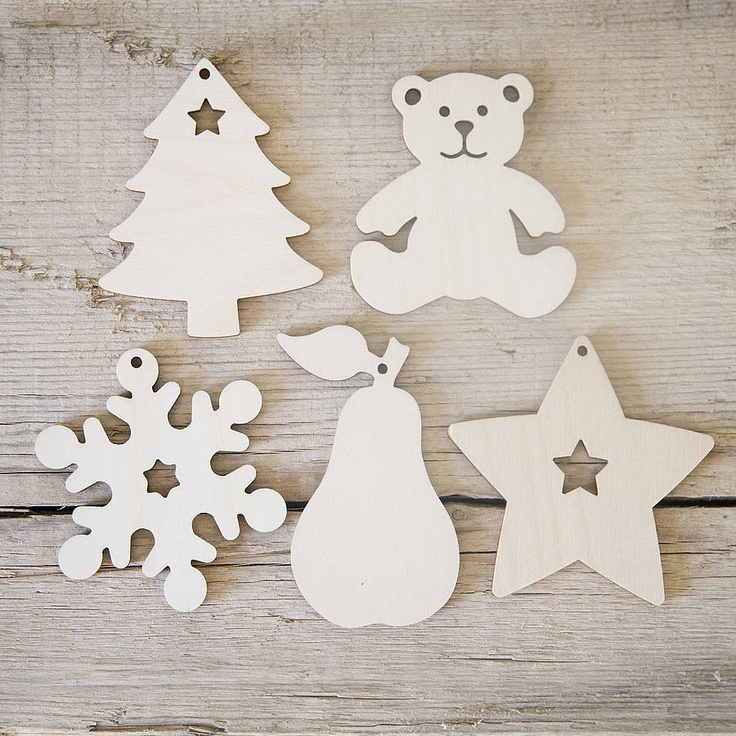 Nordic Paint Your Own Wooden Ornaments Set