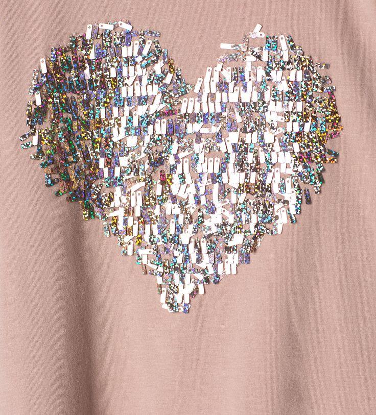 Camiseta corazón lentejuelas - Ver todo - Camisetas - Niña - Niños | 4 - 14 años - NIÑOS | ZARA España