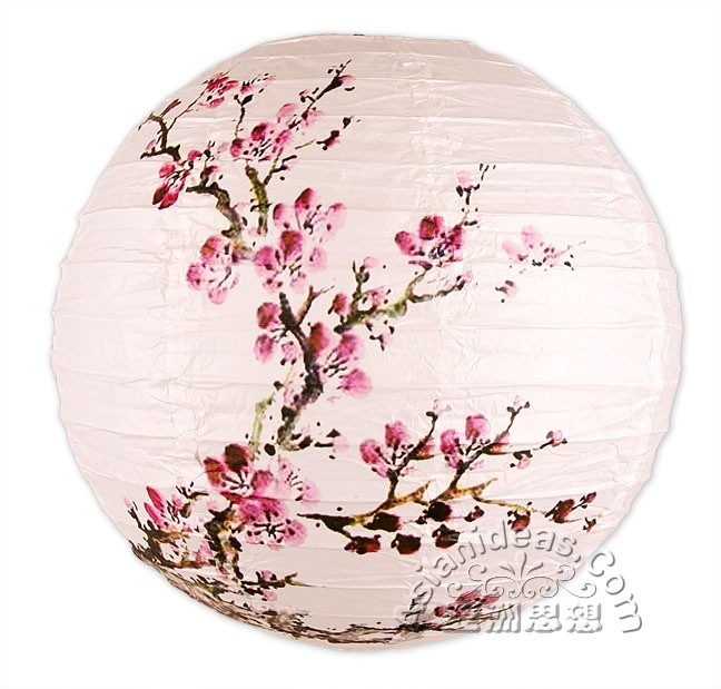 16 Inches Spring Bloom Cherry Blossom Paper Lanterns to go ... - photo#46