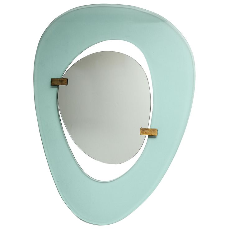 Rare Asymetrical Mirror by Fontana Arte | From a unique collection of antique and modern wall mirrors at http://www.1stdibs.com/furniture/mirrors/wall-mirrors/