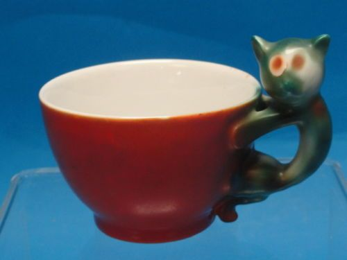 Beyer Bock C 1920 Art Deco Cat Handle Cup Dessert Plate RARE Exquisite | eBay