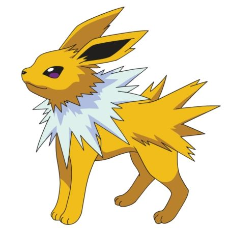 Jolteon....Eevee was always one of my favorites because it could evolve into Jolteon, Vaporeon, or Flareon.