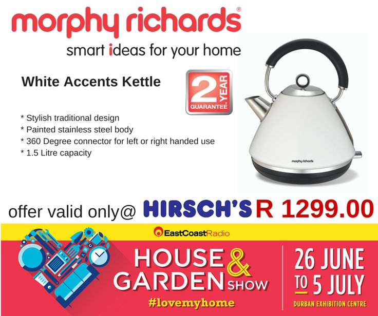 White Accents Kettle