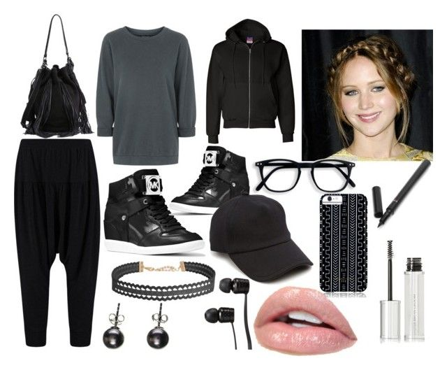 """""""can you believe this is our gym uniform for friday"""" by ivy-mary-clark ❤ liked on Polyvore featuring Topshop, Loeffler Randall, MICHAEL Michael Kors, rag & bone, Savannah Hayes, Vans, Humble Chic, Black, Champion and Givenchy"""