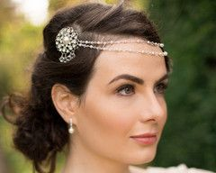 The Venice Draped Headpiece/Browband.
