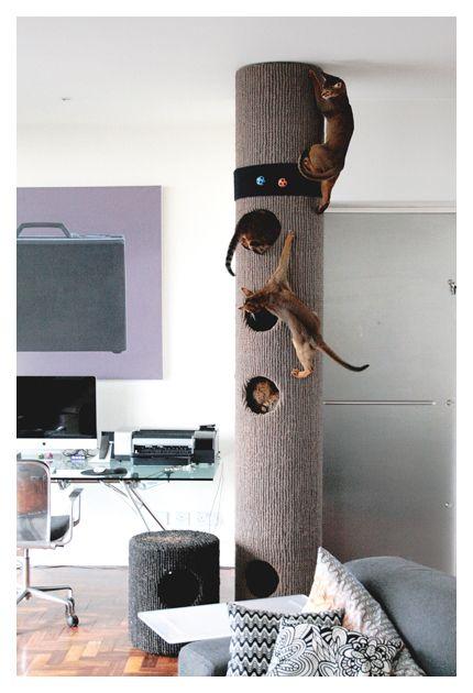 96 best cat furniture images on pinterest cat furniture for Diy cat tower cardboard