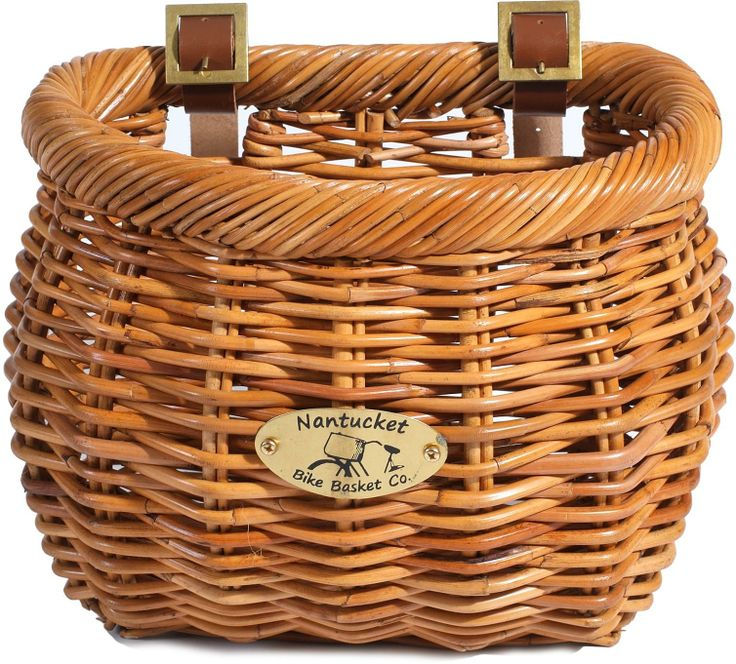 The classic-shape Cisco bike basket is made from strong and durable rattan. #REIGifts