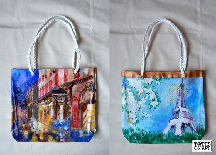 Holiday commission for a mother! Based on Parisian scenes. Machine sewn with hand-hammered in buttons and grommets. Hand-braided cotton rope handles. 14.5″x13″. December 2014.
