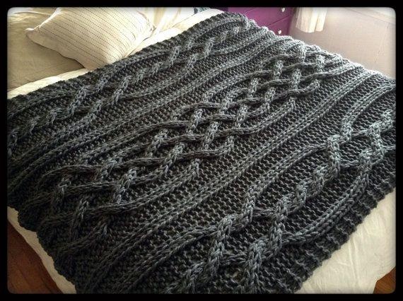 Olivia Cable Knit manta-hecho por encargo por OzarksMomma en Etsy
