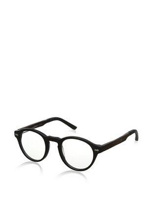 74% OFF Ivory + Mason Men's Robertson Eyeglasses, Matte Black/Walnut