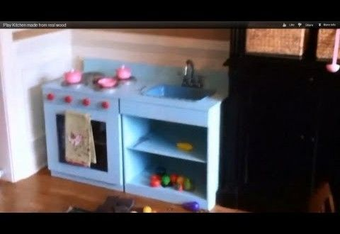 Play Kitchen made from real wood/built to last. Step by step. | Woodworkingguides.info