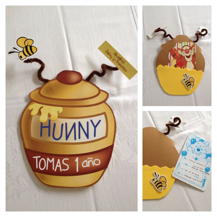 Winnie pooh theme party invitations