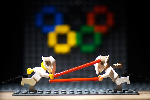 Lego fencing. Repinned by Hub City Fencing Academy of Edison, NJ.