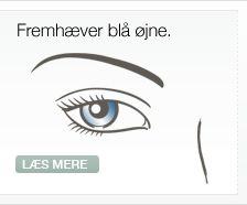 Fremhæver blå øjne