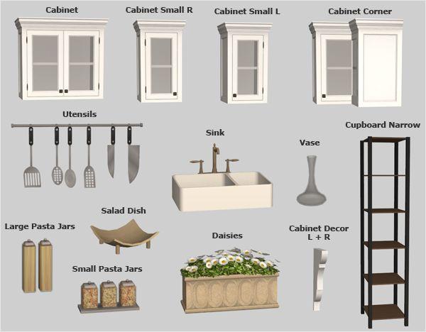 Sims  Kitchen Sets Cc