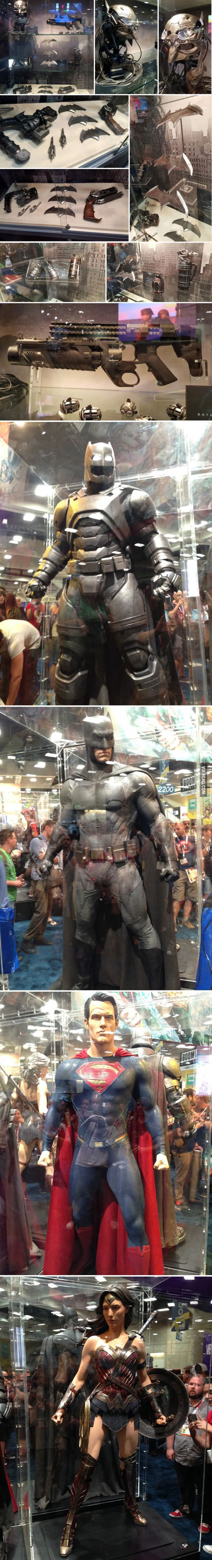 Props and costumes from Batman v Superman. SDCC 2015