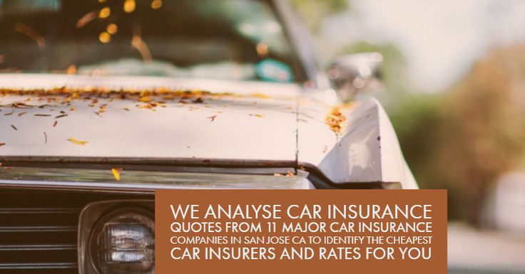 Cheap Car Insurance San Jose : Cheap Auto Insurance San Jose are here to make the car insurance quote comparison process easier. We analyse car insurance quotes from from 11 major car insurance companies in San Jose CA to identify the cheapest car insurers and rates for you.