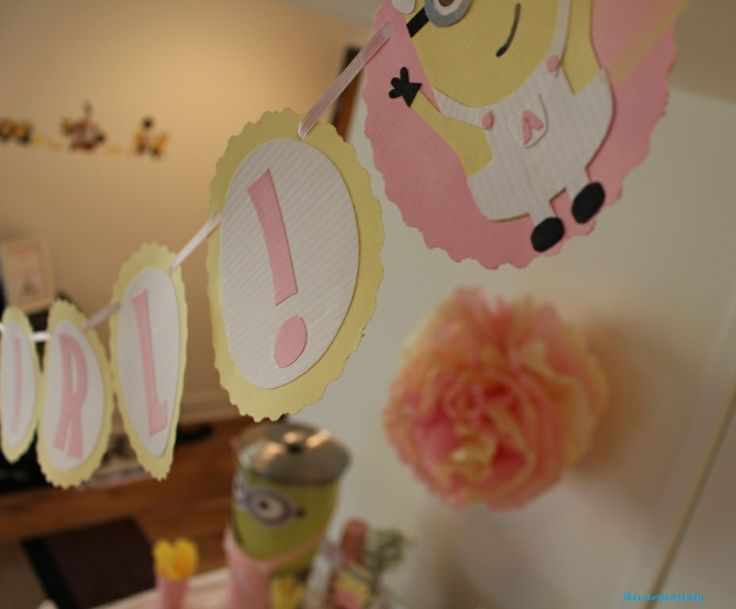 minion baby shower its a girl baby shower banner forward minion baby