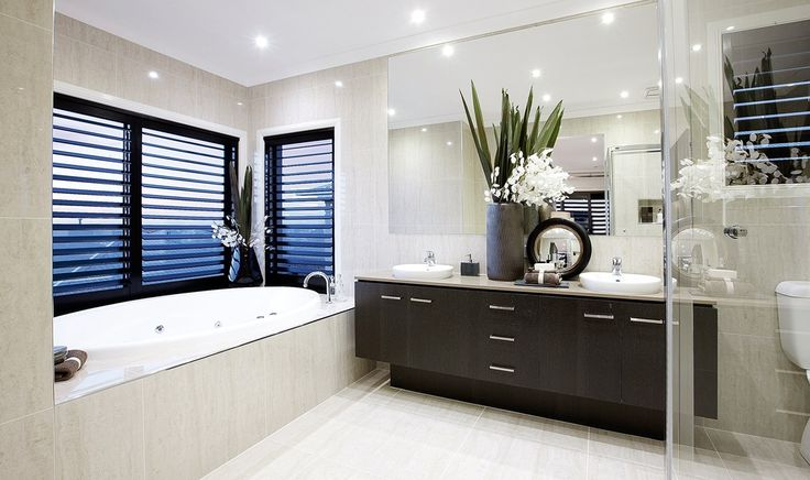 louvres for windows in ensuite | Porter Davis - Porter Davis Homes