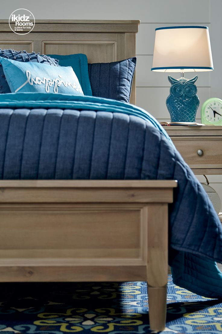 Make a style statement with blues and teals for your room! Klasholm bedroom by #iKidzRooms - Kids, Teen and Youth Bedroom Furniture