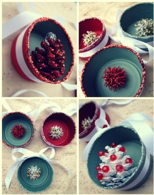 These DIY ornaments start out as tin cans - but end up as gorgeous accessories! | Parenting.com #parenting