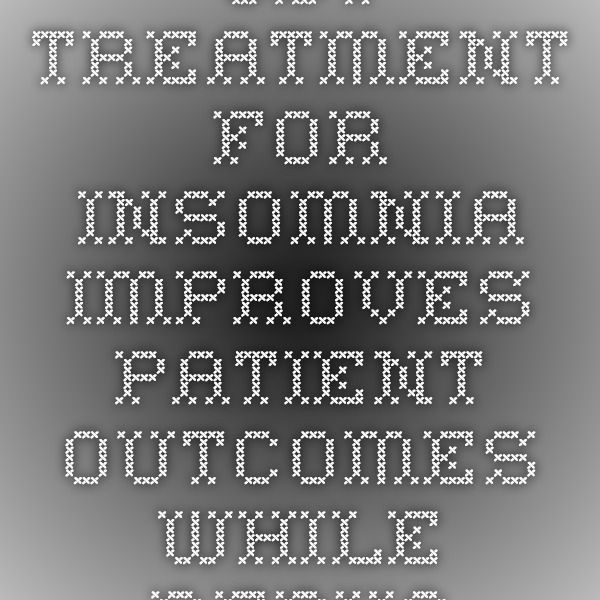 CBT Treatment for Insomnia Improves Patient Outcomes while Reducing Healthcare Costs and Utilization | Beck Institute Blog