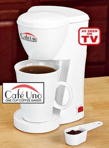 Cafe Uno One Cup Coffee Maker >>> You can get more details here : Coffee Maker