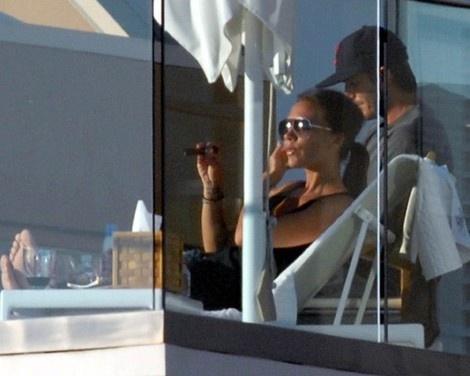 David And Victoria Beckham Famous Cigar Smokers