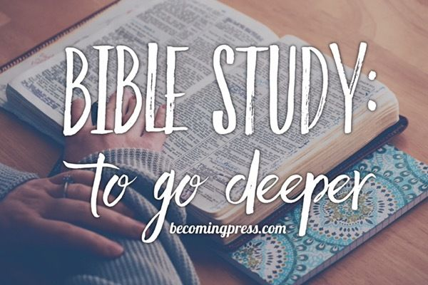 Bible Study: To Go Deeper http://becomingpress.com/to-go-deeper