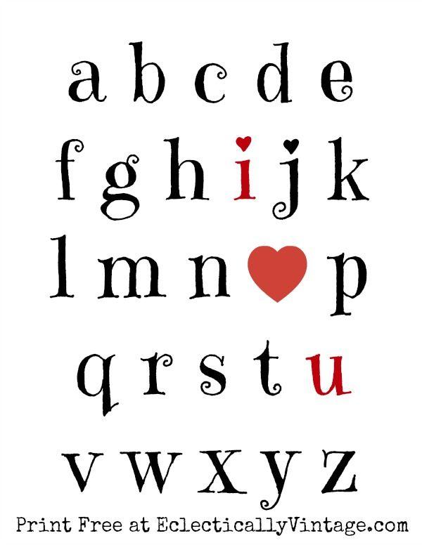 I Love You Free Valentine Printable kellyelko.com