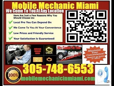 Mobile Auto Mechanic Miami Florida Car Repair Service shop on wheels pre-purchase used vehicle buying inspection 305-748-6553
