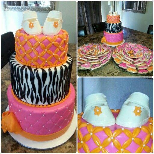 Babyshower, diva, orange & pink